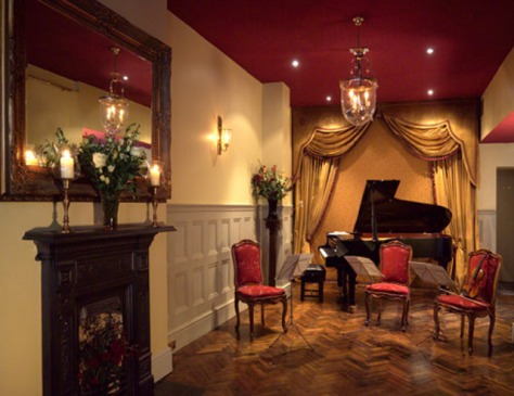 The music salon at the 1901 Arts Club
