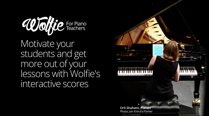 Wolfie makes piano practise madefun